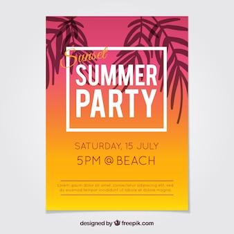 Farbige sommer-party-broschüre