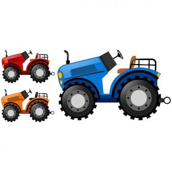 Farbige traktoren sammlung