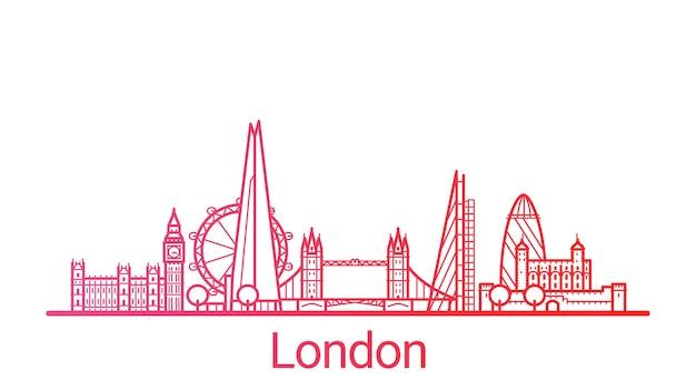 Farbige verlaufslinie der stadt london