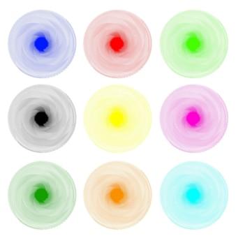 Farbiger abstrakter hypnotischer hintergrund. vektor-illustration. eps 10.