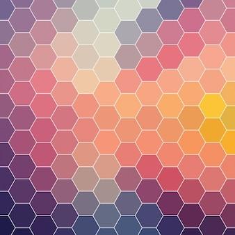 Farbiger hintergrund aus hexagonalen formen