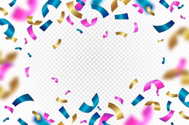 Farbiger konfetti-hintergrund mit farbverlauf