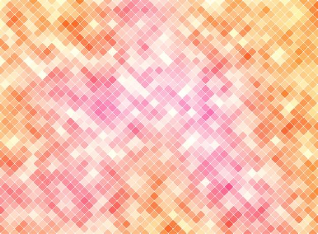 Farbiger orange-rosa vektor-mosaik-hintergrund