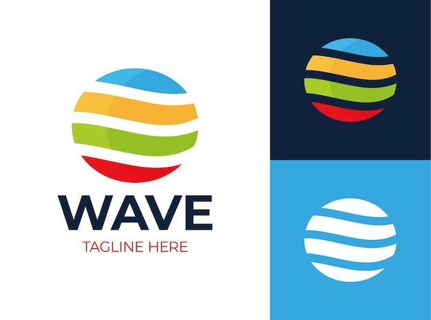 Farbiger ring mit abstrakten formen logo-design