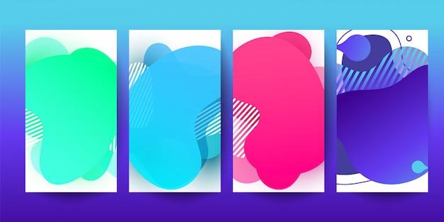 Farbiges abstraktes modernes grafisches fahnendesign für mobile