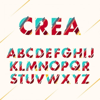 Farbiges alphabet-design