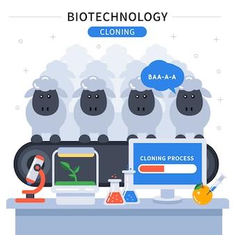 Farbiges banner der biotechnologie
