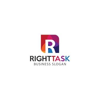 Farbiges buchstabe r logo