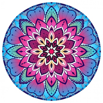Farbiges dekoratives mandala. orientalisches muster