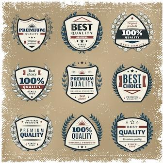 Farbiges emblem-set in premium-qualität