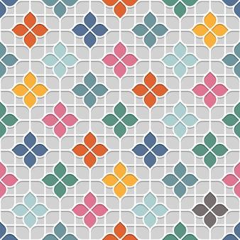 Farbiges empfindliches nahtloses blumenmuster im orientalischen stil