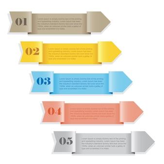 Farbiges nummeriertes banner der modernen schablone