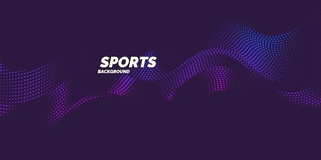 Farbiges plakat für sport. illustration passend zum design