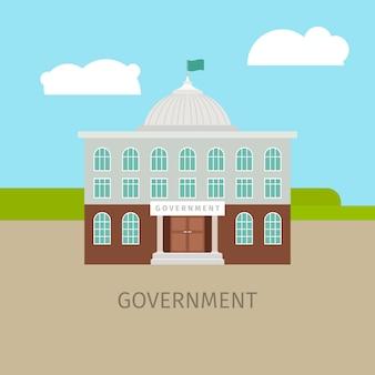 Farbiges städtisches regierungsgebäude