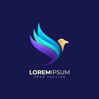 Farbiges vogel-logo