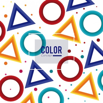 Farbkarten-konzept