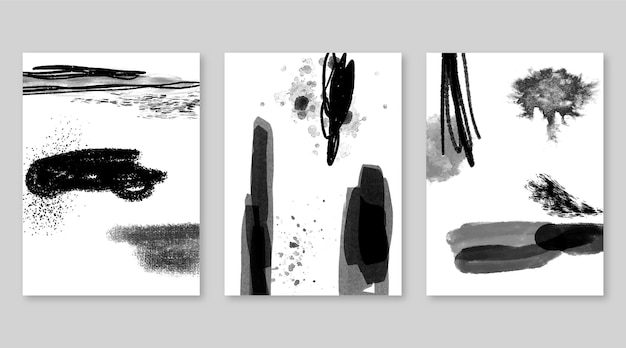 Farblose abstrakte aquarellabdeckungssammlung