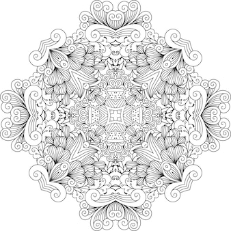 Farblose blumenmuster mit geometrischen elementen