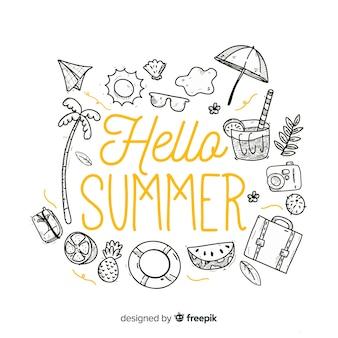 Farblose elemente hallo sommerhintergrund