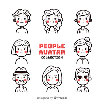 Farbloses menschen-avatar-paket