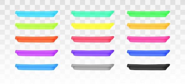 Farbmarkerlinien isoliert eingestellt