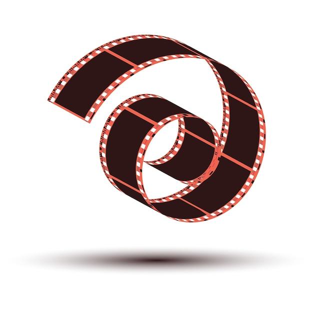 Farbnegativfilmstreifenkräuselung