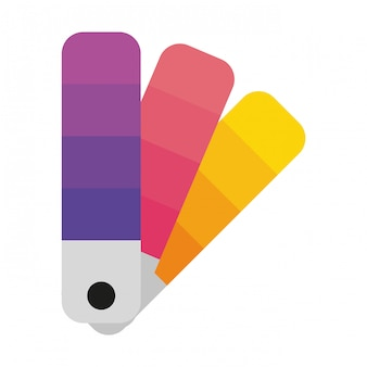 Farbpaletten isoliert