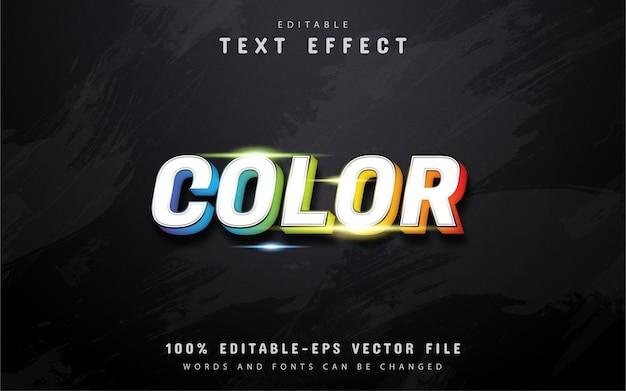 Farbtext - bunter verlaufstext-effekt