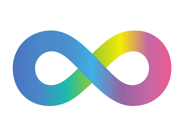 Farbvektor-symbol unlimitiert