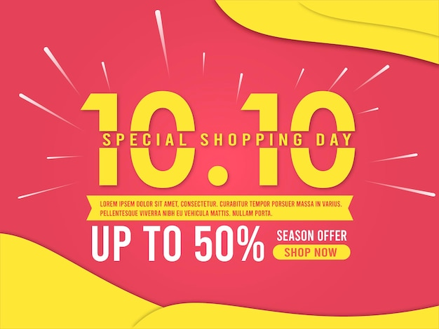 Farbverlauf 10.10 spezieller einkaufstag hintergrund