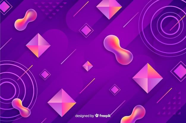 Farbverlauf 3d formt hintergrund