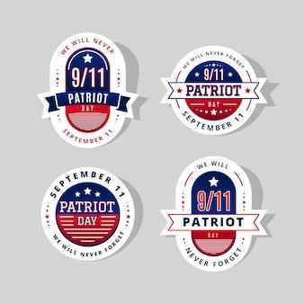 Farbverlauf 9.11 patriot day abzeichen sammlung badge