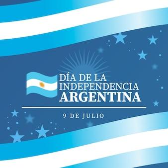 Farbverlauf 9 de julio - erklärung der unabhängigkeit der argentinischen illustration