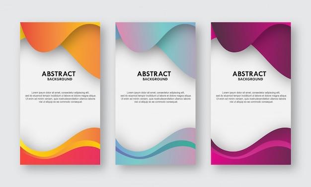Farbverlauf abstrakte banner