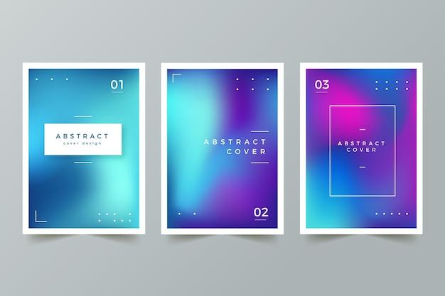 Farbverlauf abstrakte verschwommene cover-kollektion