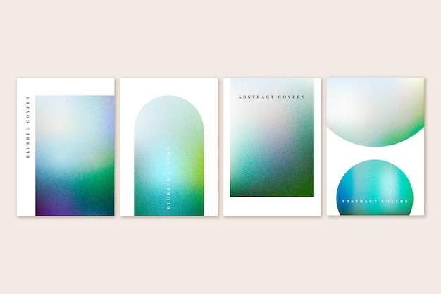 Farbverlauf abstrakte verschwommene cover-sammlung