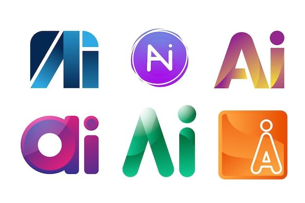 Farbverlauf ai logo-sammlung