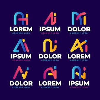 Farbverlauf ai logo-schablonensammlung
