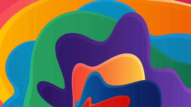 Farbverlauf blaue welle flüssiger abstrakter hintergrund