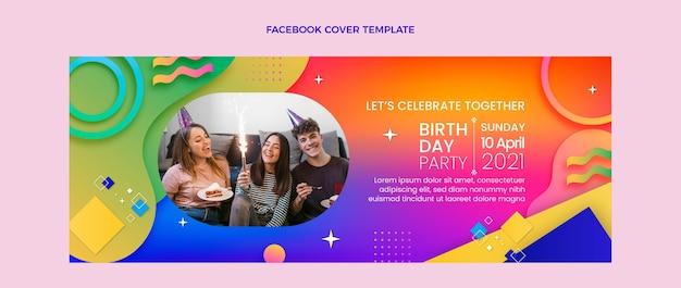 Farbverlauf bunte geburtstags-facebook-cover