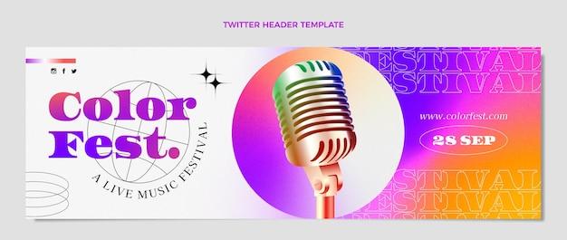 Farbverlauf bunte musikfestival twitter-header