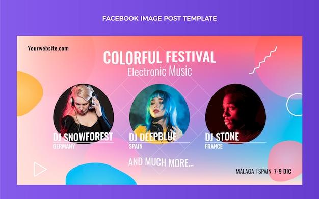 Farbverlauf bunter musikfestival-facebook-beitrag