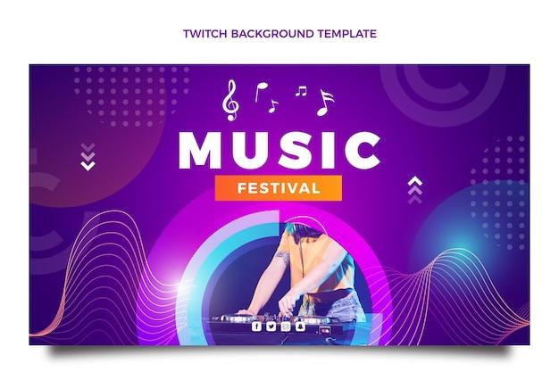 Farbverlauf bunter musikfestival zuckender hintergrund