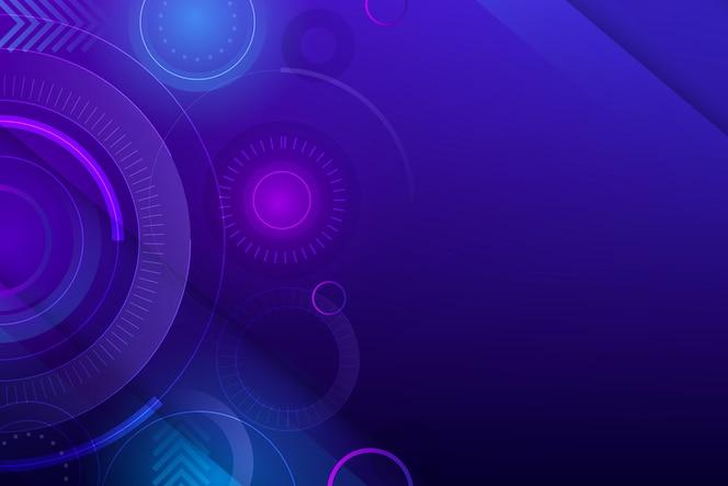 Farbverlauf bunter technologiehintergrund