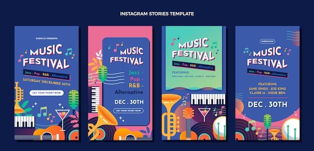 Farbverlauf buntes musikfestival ig geschichten