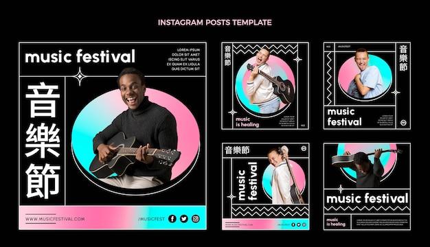 Farbverlauf buntes musikfestival ig post