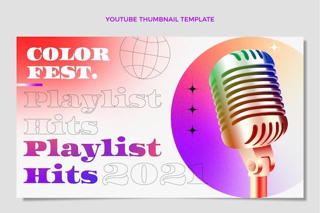 Farbverlauf buntes musikfestival youtube thumbnail