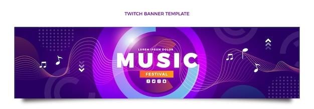 Farbverlauf buntes musikfestival zuckendes banner