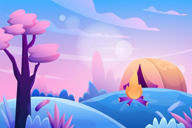 Farbverlauf der schönen landschaft