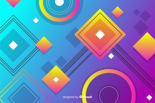 Farbverlauf diamant und kreis formen geometrischen hintergrund